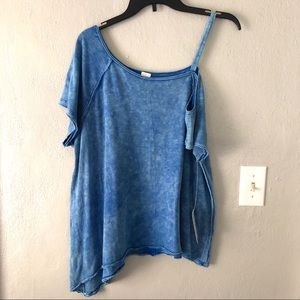 NWT Free People We The Free One Shoulder Top Sz S